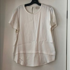 Kate Spade Short Sleeved Creme Blouse
